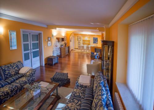 The lobby or reception area at La Alberca