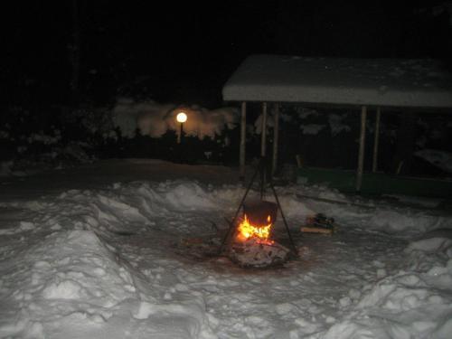 Upesrūķi during the winter