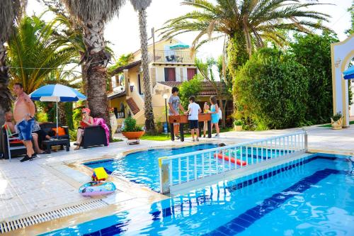 The swimming pool at or near Marylin