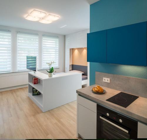 Küche/Küchenzeile in der Unterkunft Apartments Drei Morgen