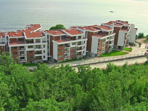 A bird's-eye view of Messambria Fort Apartments