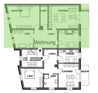 Grundriss der Unterkunft Ferienwohnung zur Stadtmauer