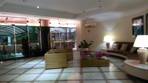The lobby or reception area at Flat em Pitangueiras