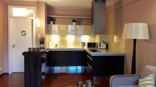 A kitchen or kitchenette at City Center Apartment