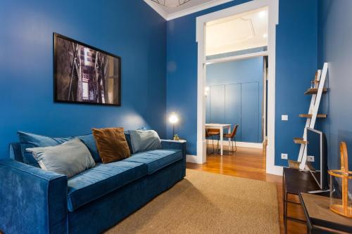 Zona de estar de Baixa Vintage Three-Bedroom Apartment - by LU Holidays