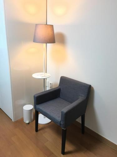 A seating area at Merci Stay