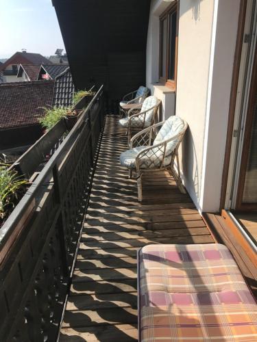 Balkon oz. terasa v nastanitvi Apartmaji Seljak