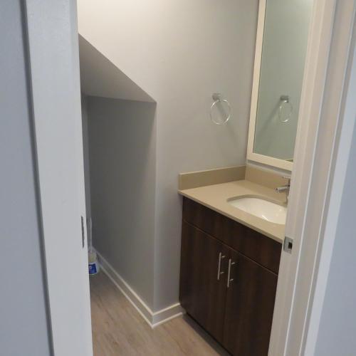 A bathroom at Arsenal