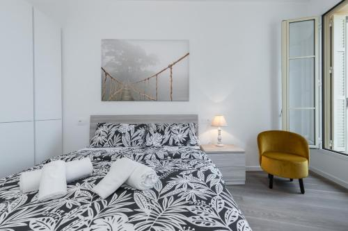 Ein Bett oder Betten in einem Zimmer der Unterkunft Monte Carlo View