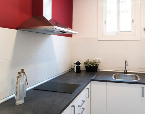 Küche/Küchenzeile in der Unterkunft Barcelonaguest