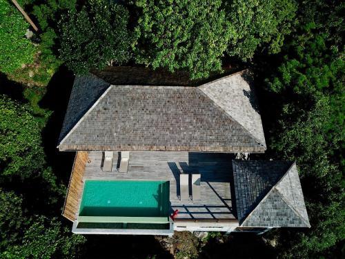 A bird's-eye view of Naroua Villas