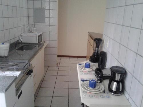 Köök või kööginurk majutusasutuses Apart Quartier Latin