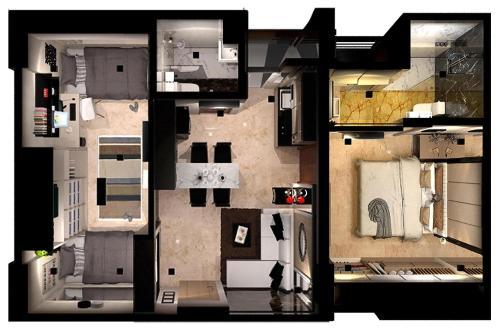 Denah lantai Educity Apartment Princeton - Jusuf
