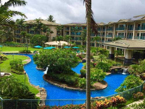 A view of the pool at Waipouli Beach Resort B-301 or nearby