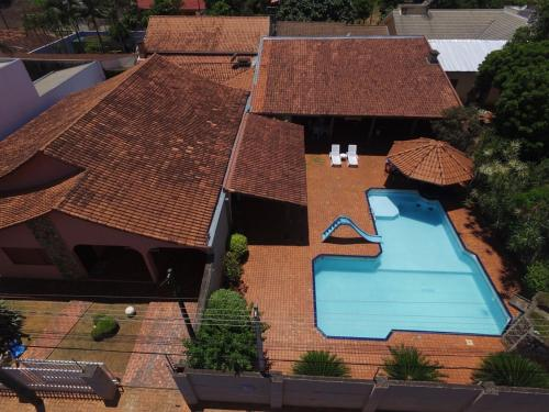 A bird's-eye view of Casa Flor de Lis