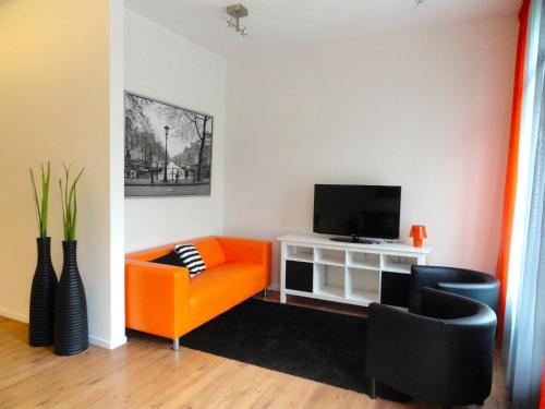 A seating area at Frankendael Apartments