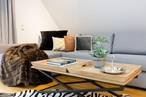 אזור ישיבה ב-Rafael Kaiser - Premium Apartments City Centre