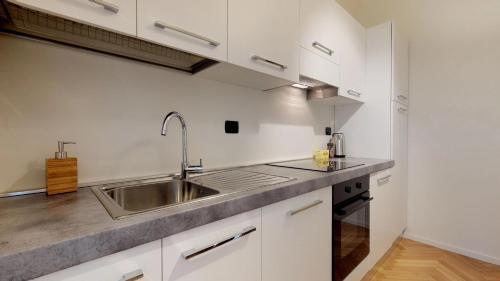 A kitchen or kitchenette at Duomo Luxury Apartment