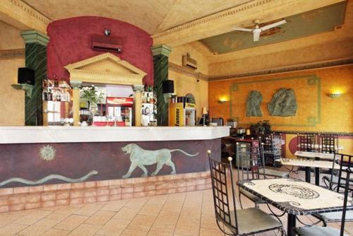 The lounge or bar area at U Michelského mlýna 1