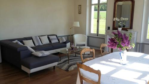 A seating area at Domaine des Augers