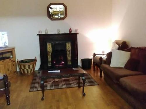 A seating area at Wild Atlantic Way Cottage