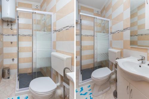 A bathroom at Apartments Doris