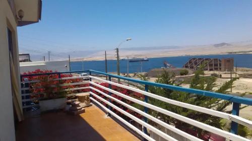 A balcony or terrace at Mirador Casa En Caldera