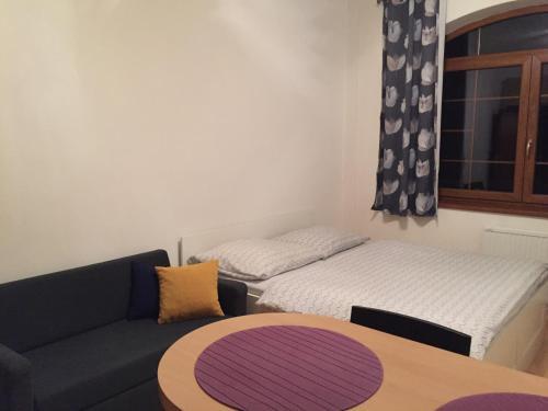 Posteľ alebo postele v izbe v ubytovaní Apartmánový dom Kamzík