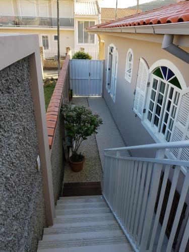 Un balcón o terraza de Apartamento - Praia da Armação do Pântano do Sul