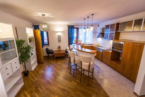 Kuchyň nebo kuchyňský kout v ubytování Galeria Italiana Apartments
