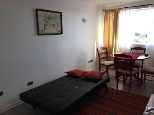 Cama o camas de una habitación en Departamento Bahía Puerto Montt