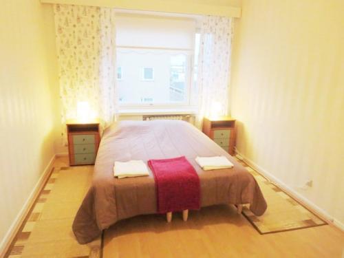 Vuode tai vuoteita majoituspaikassa Two bedroom apartment in Kotka, Ruukinkatu 11 (ID 9016)