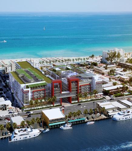 Uma vista aérea de Costa Hollywood Beach Resort