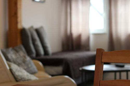 Ein Sitzbereich in der Unterkunft Ferien- und Monteurstudios