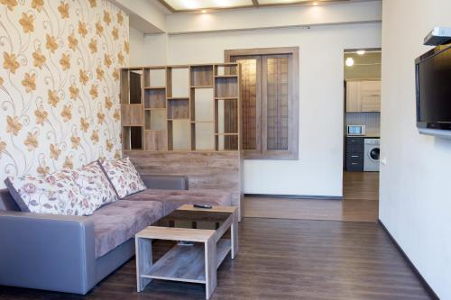 A seating area at Modern and nice apartment in the heart of Yerevan