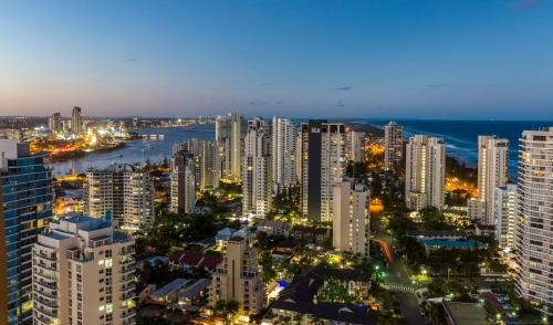 A bird's-eye view of Gold Coast Amor'e Luxury Sub Penthouse