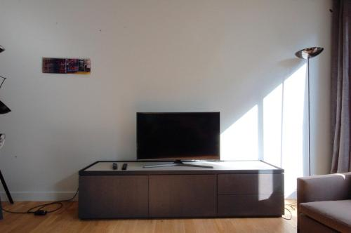 A television and/or entertainment center at ANGELO22