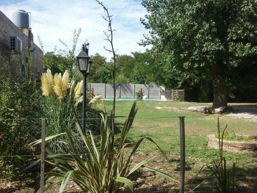 A garden outside El Alamo