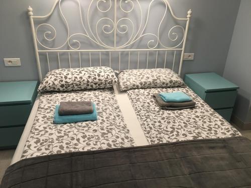 Un ou plusieurs lits dans un hébergement de l'établissement Apartment for Monaco