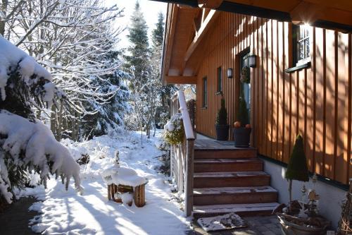 Ferienhaus Lurger during the winter