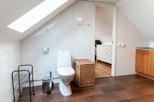 Ett badrum på Cozy Apartment