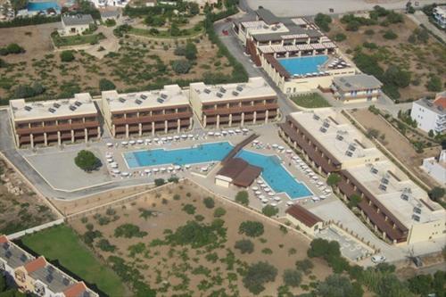 A bird's-eye view of Island Blue Hotel
