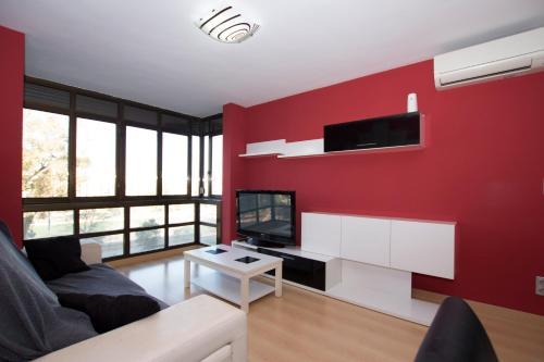 Een TV en/of entertainmentcenter bij My Apartments - Torres de Serranos