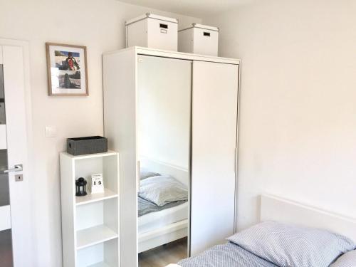 Łóżko lub łóżka w pokoju w obiekcie Apartament Gałczyńskiego