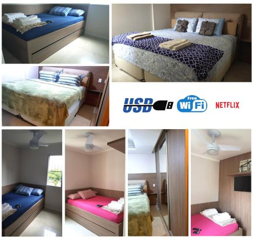 A bunk bed or bunk beds in a room at Apartamento Congonhas