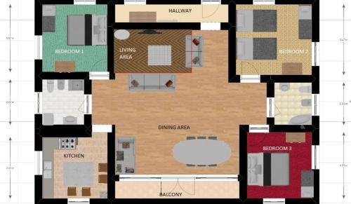 แผนผังของ Casa Francesca