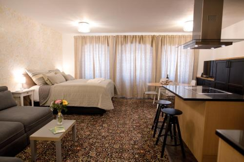 A television and/or entertainment center at Bed&Bike Prachatice