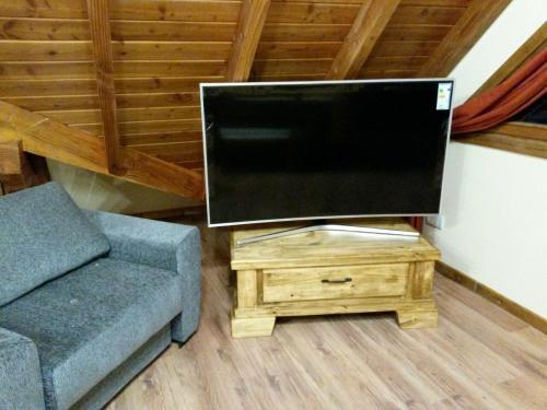 Una televisión o centro de entretenimiento en Vista Panorámica