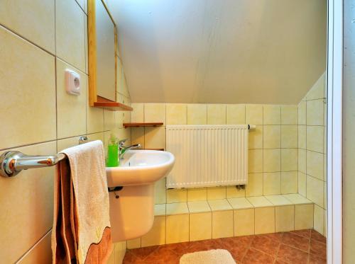 Koupelna v ubytování Apartmány Novákovi