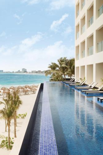 The swimming pool at or near Turquoize at Hyatt Ziva Cancun - Adults Only - All Inclusive